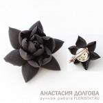 Украшения в темных тонах, японская глина, Новокузнецк.
