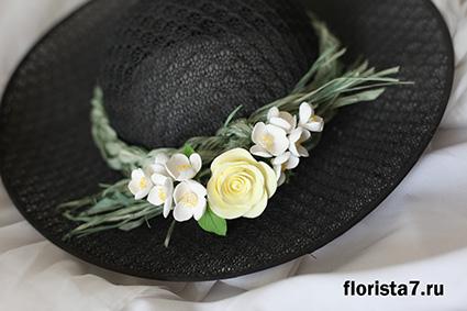 Шляпа с цветами мастер класс