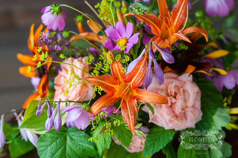Букет из садовых цветов своими руками.