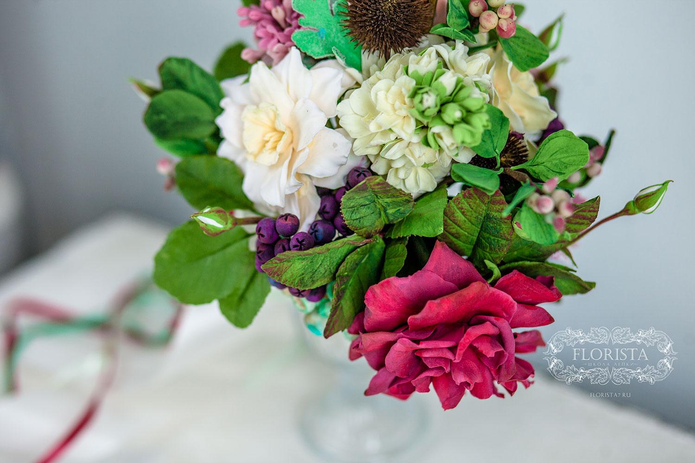 Заказать букет невесты из полимерной глины